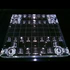 展示会に出展した「将棋盤」の切削加工品